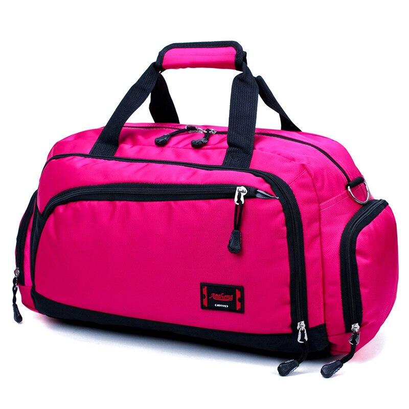 Лидер продаж, водонепроницаемая нейлоновая сумка для путешествий, Мужская модная сумка для переноски на выходные, винтажные повседневные спортивные сумки на плечо, женская сумка для сна - Цвет: rose Red