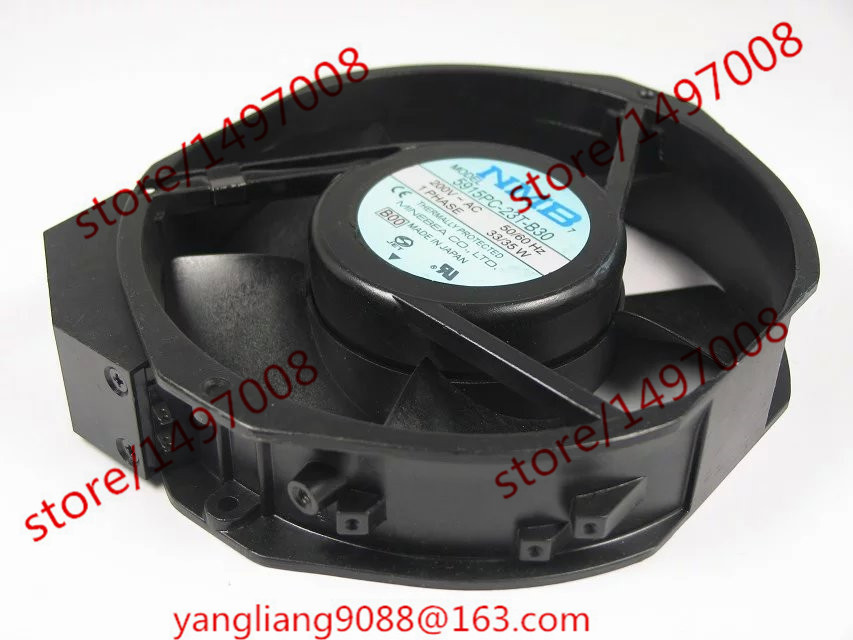 NMB-MAT 5915PC-23T-B30, B00 AC 200V 33/35W Server Round fan nmb mat new 5915pc 20w b30 b00 ac 200v 34w 172x150x38mm server round fan