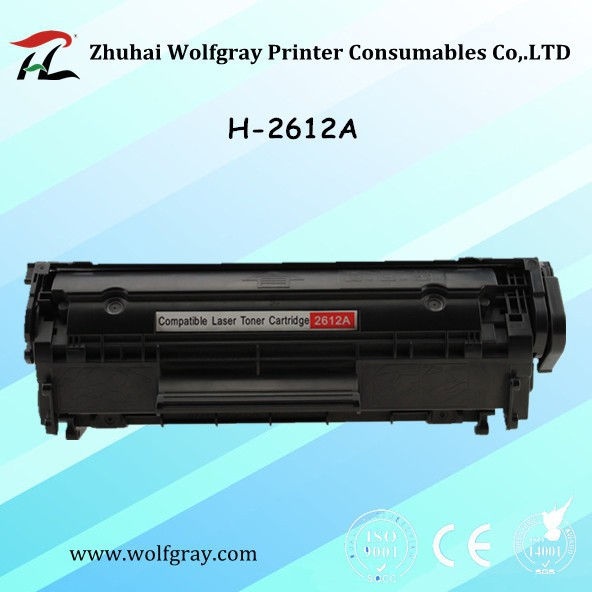 YI LE CAI compatible toner cartridge Q2612A q2612 2612a 12a 2612 for hp laserjet 1010/1020/1015/1012/3015/3020/3030/3050 printer ...