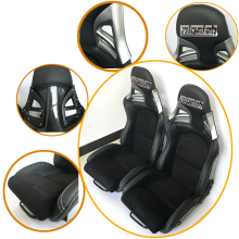 2PCS/LOT OEM SPE Adjustable & Reclinable Seat Black PU leather Sport Racing Car Seat for Porsche(China)