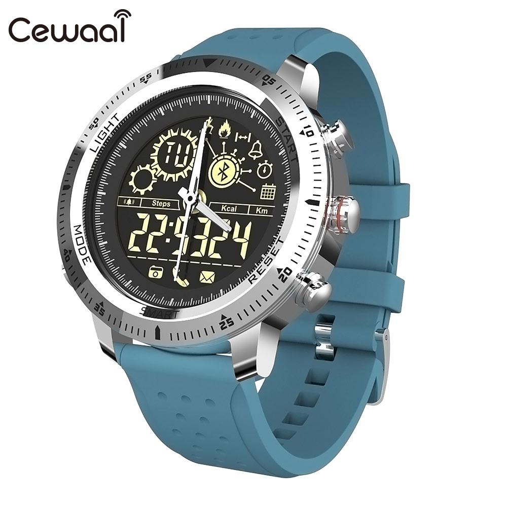 Cewaal montre intelligente BLE 4.0 fonction réveil étanche multifonction bracelet intelligent