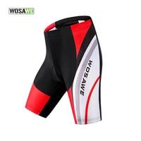 Wosawe Original Women Men Cycling Shorts Padded Coolmax Gel Black Mountain Bike Bicycle Clothing Underpants Tight Fitness 25