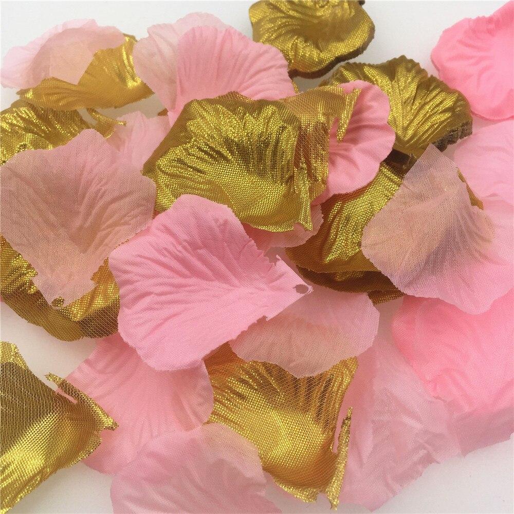 Pink Gold Rose Petals Wedding Decoration Artificial Flowers For Decoration Silk Flowers Decorative Flowers & Wreaths  600pcs