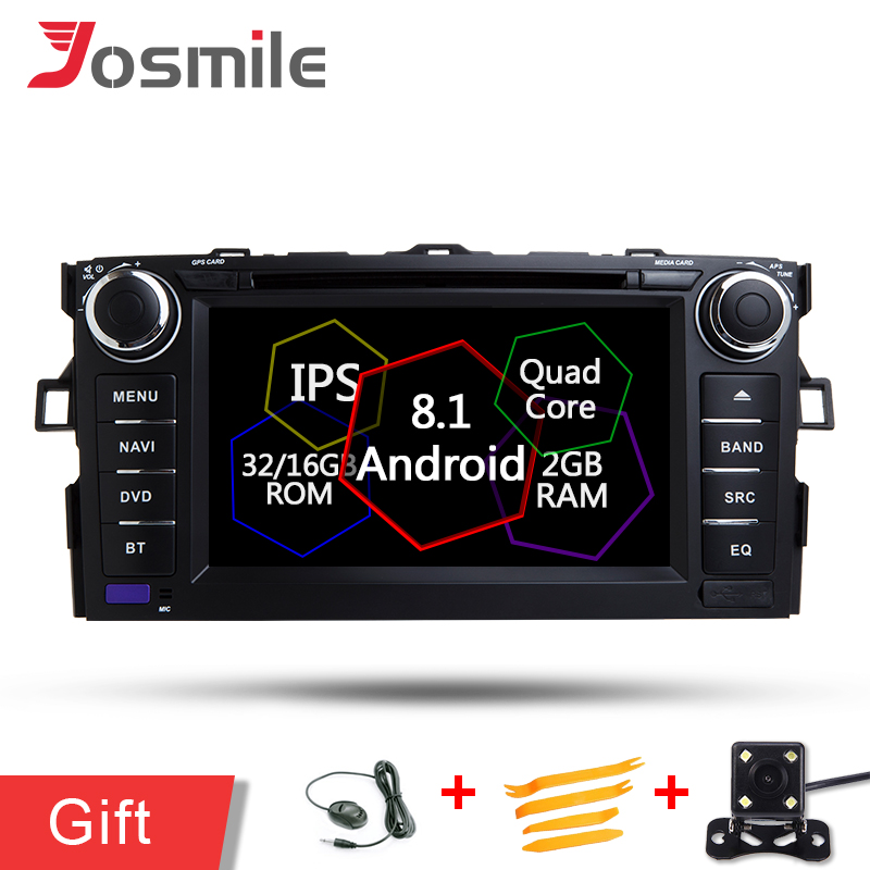 Android 8.1 Car  Audio Radio DVD Player For Toyota Auris hatchback Corolla Vehicle GPS Navigation Raido BT Wifi/4G MAP DAB+