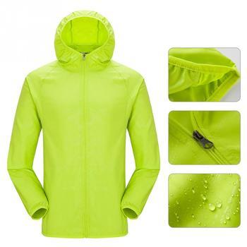 Hommes femmes imperméable randonnée voyage imperméable coupe-vent veste plein air vélo Sports séchage rapide manteau de pluie crème solaire unisexe #0825 1