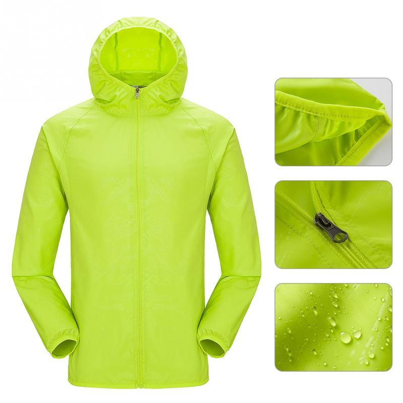 Men Women Raincoat Hiking Travel Waterproof Windproof Jacket Outdoor Bicycle Sports Quick Dry Rain Coat Sunscreen Unisex #0825