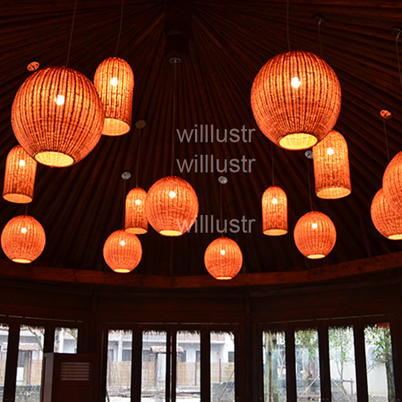 willlustr wicker pendant lamp handmade wood suspension light rugby shape lighting wicker hanging light hotel restaurant lounge willlustr wicker pendant lamp handmade wood suspension light bird nest shape hanging lighting bar hotel restaurant mall lounge