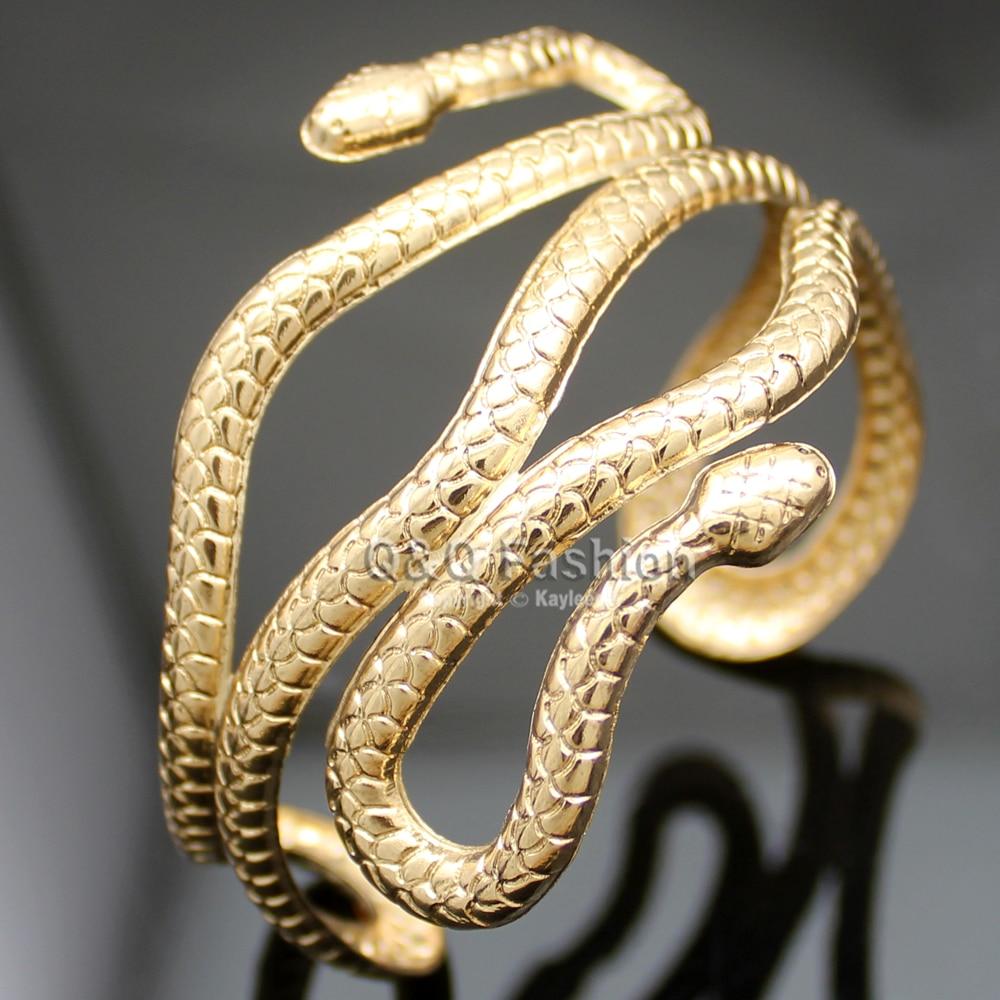 Kuld hõbe Egiptus Kleopatra keerisega madu käe manseti käevõru - Mood ehteid - Foto 2