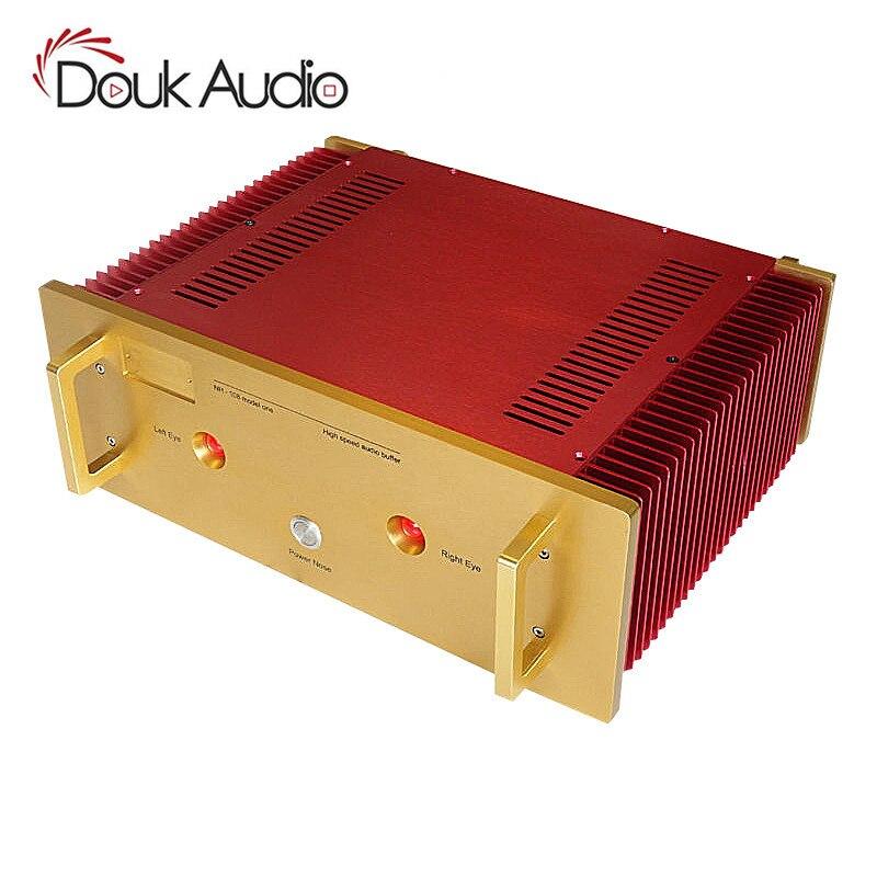 Oi-End Gabinete De Alumínio Chassis Amplificador de Potência DIY Case_Red Cor