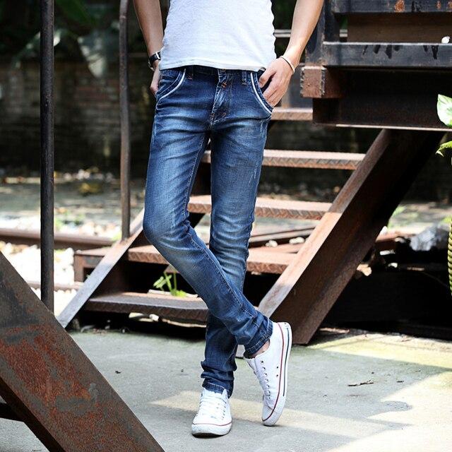 054642004c2 new arrived 2015 mens jeans men skinny jeans elastic narrow feet men s  jeans slim straight male Korean style demin jean 128
