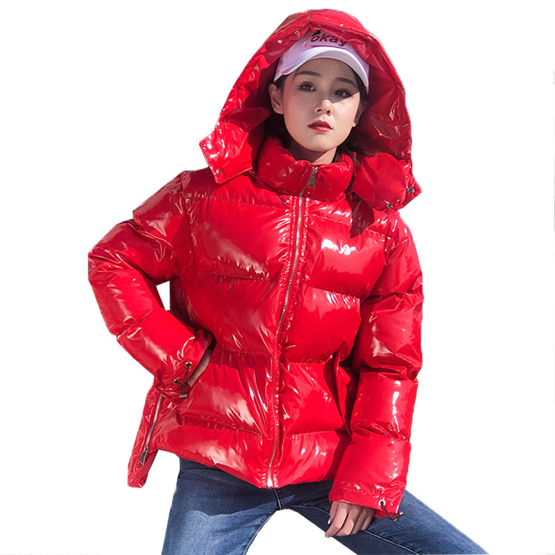 Tootless-Men Hooded Stand Collar Packable Thickening Puffer Jacket