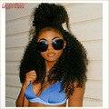 Nueva Natural Corto Afro Peluca Rizada rizada Llena Del Cordón Del Pelo Humano peluca Mongol Virginal Del Pelo Corto Afro Rizado Rizado Pelucas Llenas del Cordón Sin Cola
