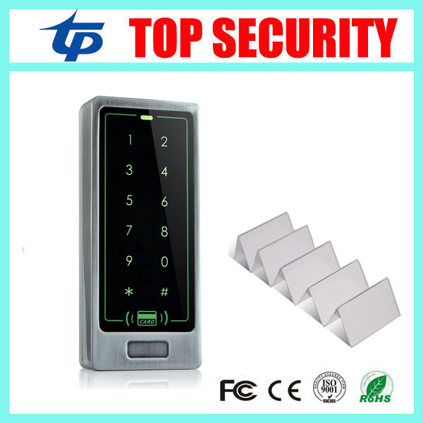 все цены на Face waterproof touch screen keypad proximity card smart card access control standalone 13.56MHZ Mi-fare IC card access control онлайн
