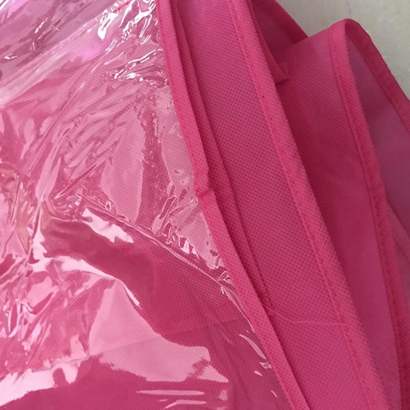 6 Pocket Hanging Bag Organizer Wardrobe Transparent Storage Bag for Handbag Closet Shoes Organizer Door Wall Sundries Pouch