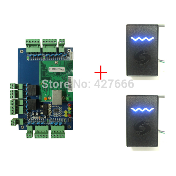 Good Quality Network Two-doors Two-Ways Access Control Panel + 2PCS RFID Reader With Free Software Access Control Board System sdk two doors two ways input output ports 30000 user tcp ip network zk c3 200 door access control board