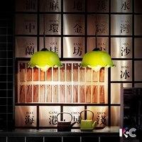 Винтажные Ретро Ностальгия Старый Шанхай Республика Ресторан Бар Кафе стекло абажур подвесной светильник для кухни гостиная лампа