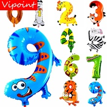VIPOINT PARTY 16inch deer sanke dogs fox number foil balloons wedding event christmas halloween festival birthday party FD-21 vipoint party 16inch rose gold blue letter number foil balloons wedding event christmas halloween festival birthday party fd 14