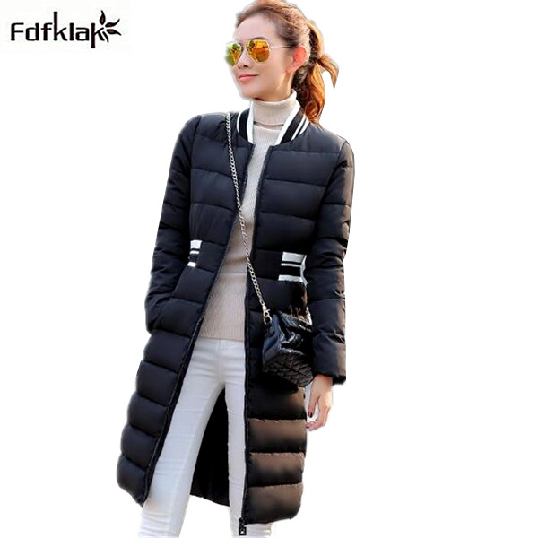 Women jacket winter long thickening quilted winter coat large size womens jackets winter slim female parka white/black Q736 marina rinaldi by max mara womens plus quilted long sleeves coat