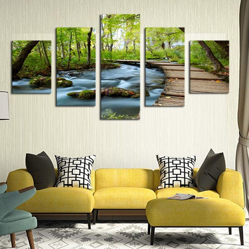 Muur Plank Voor Schilderijen.Hd Frame Landschap Muurschilderingen Plank Road Schilderij