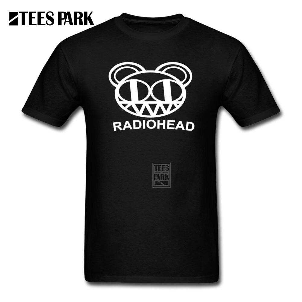 Black t shirt low price - Print Own T Shirt Radiohead Rock Band Men S Round Collar Short Sleeve T Shirt Low Price