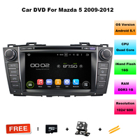 1024 600 Quad Core 2 Din 8 Android 5 1 Car DVD Player For MAZDA 5