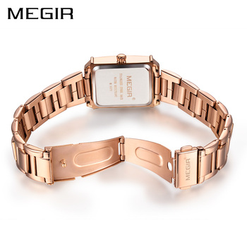 MEGIR Ladies Watches Rose Gold Luxury Women Bracelet Watch for Lovers Fashion Girl Quartz Wristwatch Clock Relogio Feminino 1079