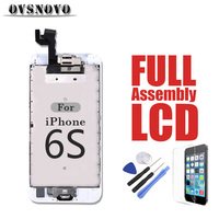 Full LCD Digitizer Assembly for iPhone 6s LCDs Touch Screen Replacement Parts Panel Front Camera + Home Button + Glass + Tools