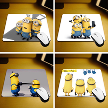 New Small Size Computer desktop Minions Mouse Pad Non-Skid Rubber Pad 220mmX180mmX2mm and 250mmx290mmx2mm Mouse Pads maiyaca sound system prints mouse pad small size round gaming non skid rubber pad