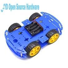 1 шт. синий Двигатель умный робот шасси автомобиля электронное производство DIY Kit Скорость кодер Батарея коробка 4WD 4 колеса автомобиль