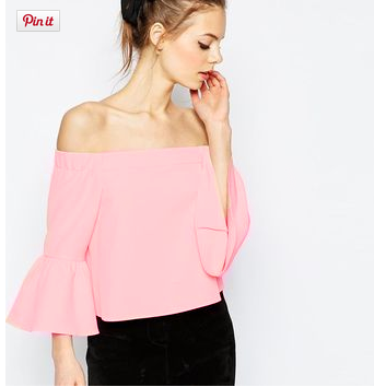 d07c351cd5a Off Shoulder Top Flare Sleeve Slash Neck Vintage Loose Blouse Sexy Shirt  Women Pink Chiffon Casual Blouse Fashion 2016 Summer