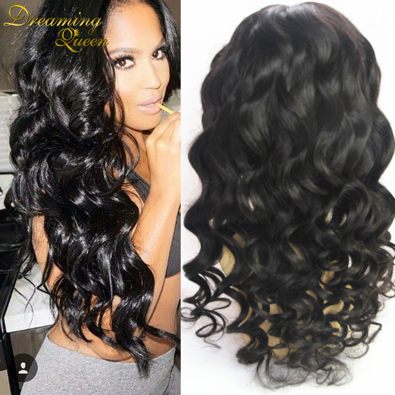 купить Hotsale Glueless Lace Front Human Hair Wigs Brazilian Virgin Loose Wave Full Lace Human Hair Wigs For Black Women With Baby Hair
