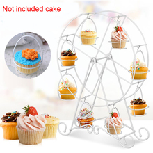8 Cups Cake Stand Aluminum Alloy Ferris Wheel Detachable Cupcake Display Holder Party Festival  Diy Accessories 32*44cm