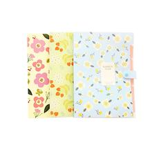 3Pcs Fresh Floral Filing Production Folder Multi-Function 8 Into Mezzanine File A4 Document File Folder School Office a5 20 page 30 page 40 page 60 page file folder document folder for files sorting practical supplies for office and school