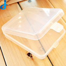 Small Rectangular Transparent Plastic Box Containers Nail Art Refillable Box For False Nail Art Storage Bottles
