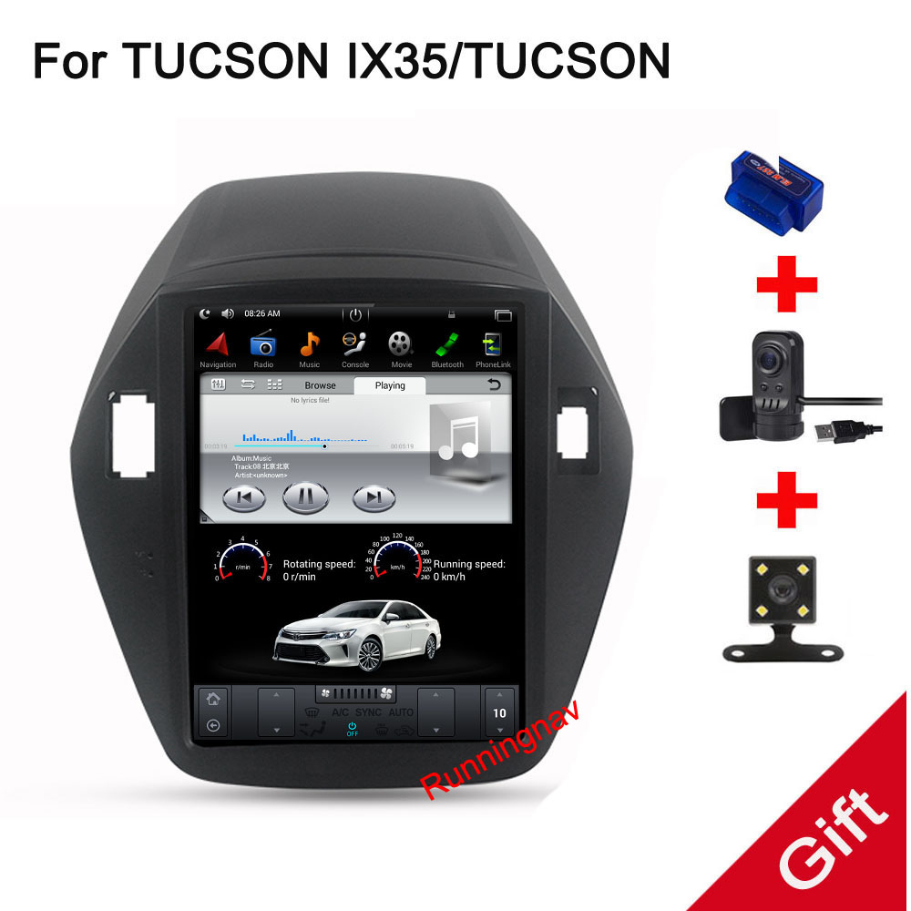 10,4 Тесла Тип Android 7,1/6,0 Fit HYUNDAI TUCSON IX35 2009 2010 2011 2012 2013 2014-dvd-плеер навигационная gps радио