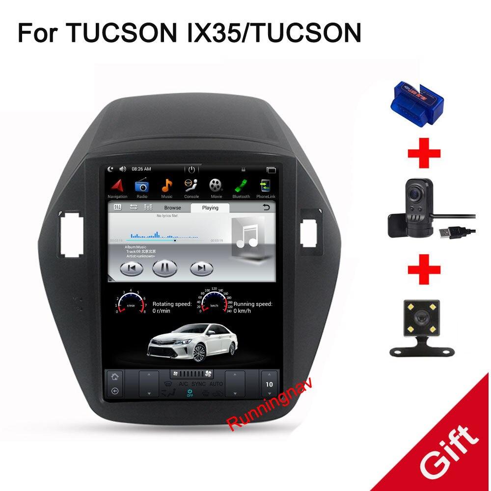 10.4 Tesla Type Android 7.1/6.0 Fit HYUNDAI TUCSON IX35 2009 2010 2011 2012 2013 2014-Voiture lecteur DVD de Navigation GPS Radio