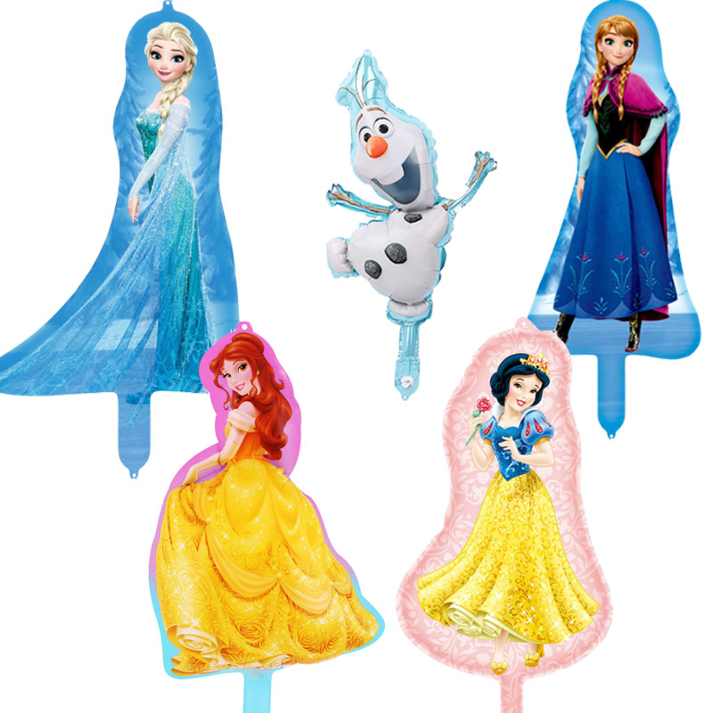 <font><b>100pcs</b></font> Mini Disney Princess <font><b>Foil</b></font> Balloons Frozen Elsa Anna Air Inflatable Baloes Baby Shower girl Birthday Party Supplies Gifts image