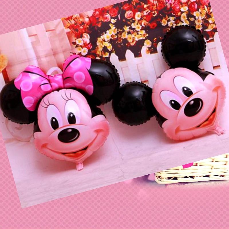 US $0.78 30% OFF|Riesen Bowknot Mickey Minnie Maus Ballons Cartoon Folie  Birthday Party Supplies Dekoration Ballon Kinder jungen mädchen Spielzeug  ...