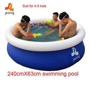 Nadmuchiwany basen nadmuchiwane sporty wodne basen dmuchany rodzina dzieci dzieci basen kąpielowy 240X63cm tanie i dobre opinie Stałe 8 ~ 13 Lat 0 ~ 2 Lat 2 ~ 4 Lat 5 ~ 7 Lat Nadmuchiwane okrągły YC-004 inflatable swimming pool