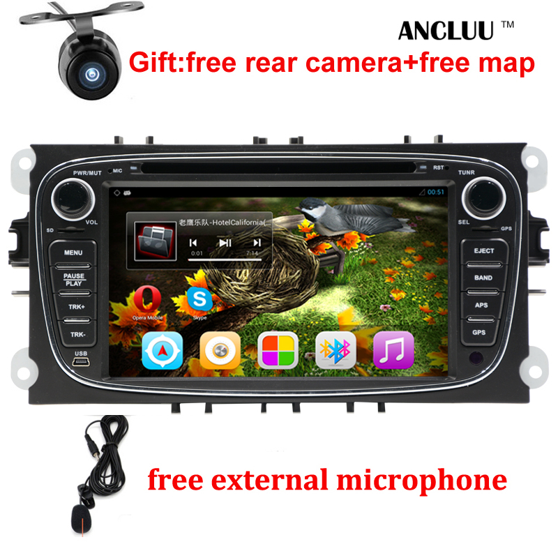 Android 6.0 Quad core 2 Din 7 Car DVD Player For FORD/FOCUS 2 /MONDEO/S-MAX/CONNECT 2008 2009 2010 2011 head unit Car GPS Radio joyous 7 touch screen android 4 2 dual core car dvd player w gps bt for ford focus focus 2