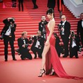 Sexy High Split Red Evening Dress Cannes 2016 Red Carpet Gown Backless Prom Dress Gown With Train Celebrity vestido de festa