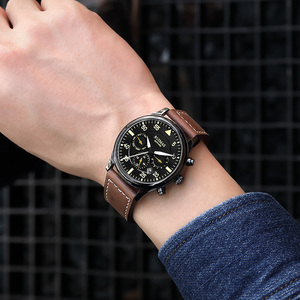 Image 4 - RUIMAS Men Fashion Genuine Leather Strap Watch Automatic Business Mechanical Watches Male Clock Wristwatches Erkek Kol Saati