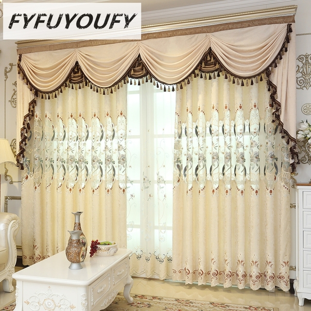Model Of FYFUYOUFY European curtains for living room fine embroidered tulle curtains for the bedroom the curtains in Picture - Modern Nursery Curtains Ideas