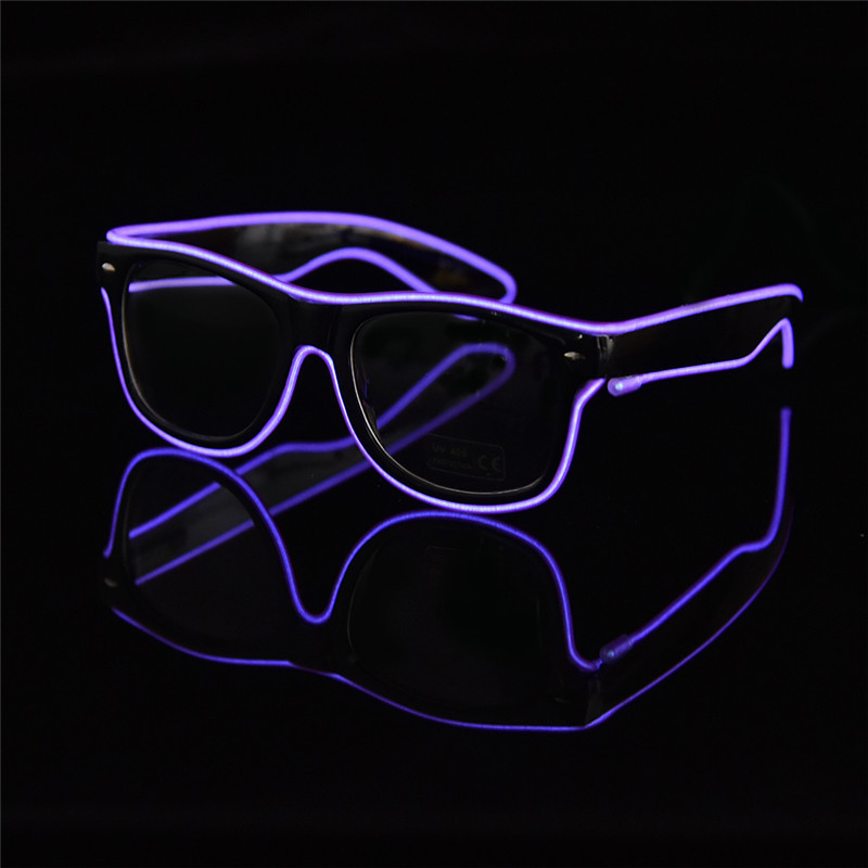 6 Colors Flaring LED Glasses Bar Party Fluorescent Dance DJ Bright Glasses EL Wire Neon LED Light Glow Atmosphere Activing Props