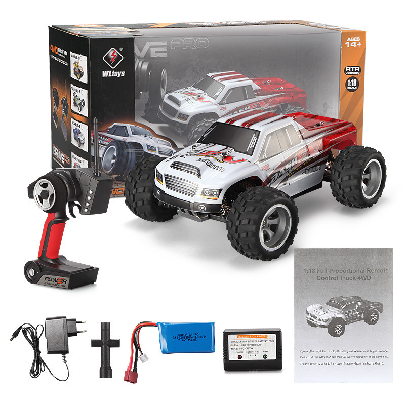 70KM/H,New Arrival 1:18 4WD RC Car Wltoys A979-B 2.4G Radio Control High Speed Truck RC Buggy Off-Road VS Wltoys A959 Truck wltoys a959 b 13 540 motor 1 18 a959 b a969 b a979 b rc car part