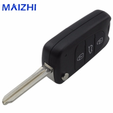 maizhi For Kia K2 For Hyundai Avante 3 Buttons Remote Folding Flid Car Key Case Cover