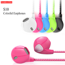 S10  Earphone Headphone With Microphone 3.5mm Music Earpieces Running Wired Headset For Xiaomi Sony Samsung IPhone Mobile