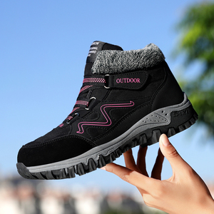 Image 2 - TUINANLE  2020 Winter Boots Warm Snow Boots Waterproof Cow Suede Shoes Female Ankle Platform Boots Plus Size Combat Boots Women