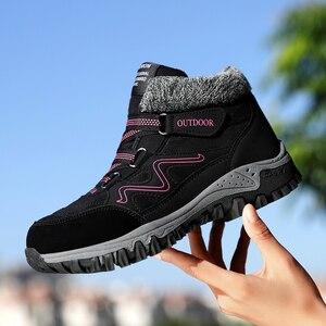 Image 2 - TUINANLE 2020 zimowe buty ciepłe buty na śnieg wodoodporne buty z zamszu kobiece kostki buty na platformie Plus rozmiar buty wojskowe kobiet