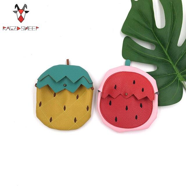 Raged Sheep Baby Girls Fruit Coin Purse Children Watermelon Pineapple Shap PU Message Bag Kids Girls Purse Small Coin Bag